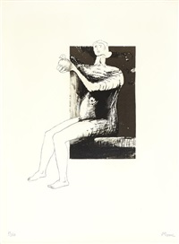 80th anniversary portfolio (portfolio of 9) by henry moore