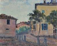 paesaggio con case by umberto vittorini