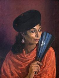 gitana con abanico by alfonso grosso y sánchez