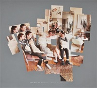 chromogenic print collage george, blanche, celia, albert and percy by david hockney
