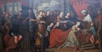 le couronnement d'esther by flemish school (17)