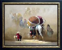 caravane dans les vents du désert by hocine ziani