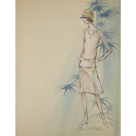 Costume design for Mia Farrow in the character of Daisy