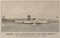 peoples line between new york and albany: new steamer