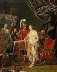 alexander überlässt apelles seine geliebte campaspe by johann heiss