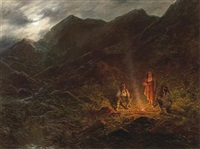 the evening campfire by henry raschen