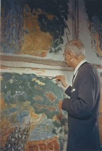 pierre bonnard, dans son atelier au cannet (19 works) by gisèle freund