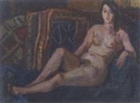 seated nude by johan buning