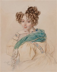 portrait of countess olga alexandrovna orlova by petr fedorovich sokolov