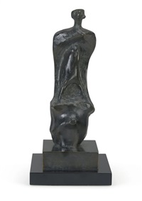 standing figure height 18in (45.7cm) by henry moore