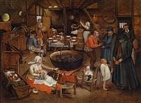 besuch auf dem bauernhof by pieter brueghel the younger