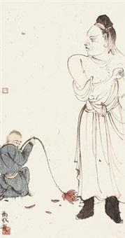 高士 镜心 设色纸本 by ma jun