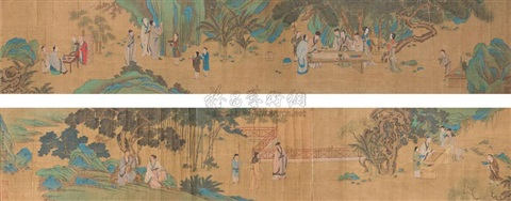 gathering in west garden by wang zhenpeng