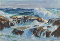marine #2 / rocks and surf by john whorf