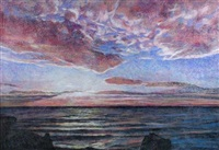 sunset across the firth of forth by henry korda