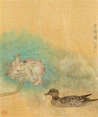 荷塘图 by jiang hongwei