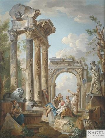 predigt eines apostels in römischen ruinen by giovanni paolo panini