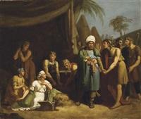 achille parmi les filles de lycomède by alexandre-francois caminade