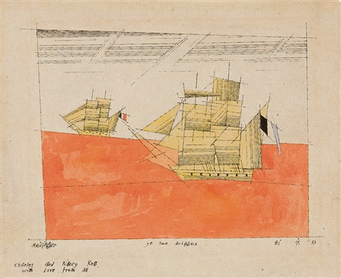 ye two brigges by lyonel feininger