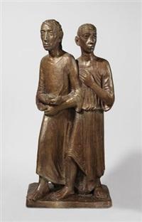 schreitende jünger (jesus und johannes) by joachim karsch