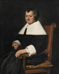 porträts eines holländischen ehepaares im armlehnsessel (2 works) by johannes cornelisz verspronck