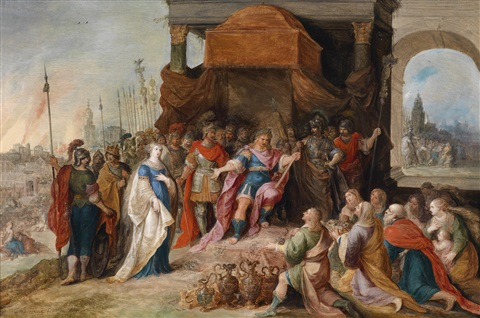 die großmut des scipio livius xxvi 50 petrarca africa iv 375 388 by frans francken the younger