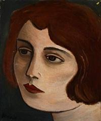 portrait of a woman by wilhelm freddie