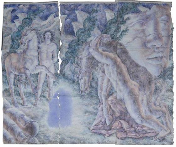 figures grecques avec un cheval in 8 parts by ricardo cinalli
