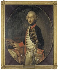 portrait of duke maximilian julius leopold of brunswick and lüneburg, brother of duke karl ii of brunswick by johann heinrich schröder