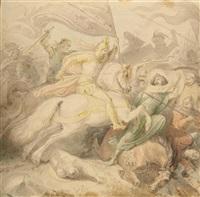 die schlacht von iconium im jahre 1190 by wilhelm lindenschmit the elder