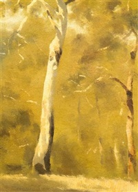 greenwood trees, australia (+ another; 2 works) by albert ernest newbury