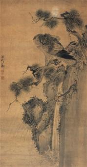 虬松苍鹰图 by xu zijing