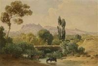 athen - blick auf die akropolis by august löffler