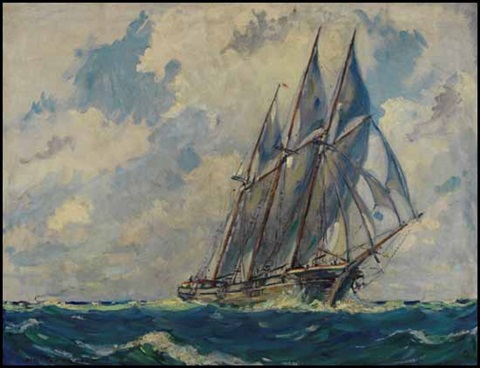marine scene by manly edward macdonald