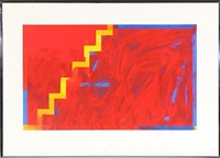 four compositions (4 works, incl. 1 silkscreen, various sizes) by per arnoldi