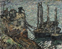 finistere-breton fishing boats by walter griffin