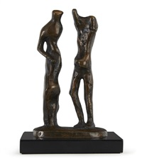 standing man and woman by henry moore
