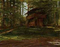blockhütte im wald ii (einsiedelei) by wilhelm trübner