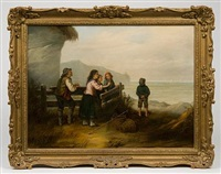 fathers return (+ awaiting the fleet; pair) by louis simon cabaillot lassalle
