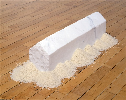 rice house by wolfgang laib