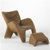 enchanton lounge chair (+ ottoman; 2 works) by jan armgardt
