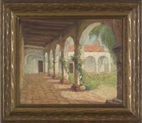 courtyard san juan capistano by frederick carl smith