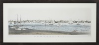 newport r.i., view from fort wolcott, goat island by john perry newell