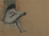 sitting nude by douglas portway