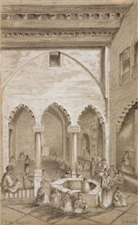 ecole turque à beyrouth by henry oscar romieux