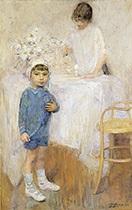 l'oeuf à la coque (intérieur avec enfant en bleu) by ernest jean joseph godfrinon