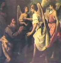 abramo e gli angeli by felice (il risposo) fischerelli