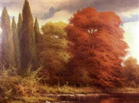 autumn forest landscape by ludwig muninger
