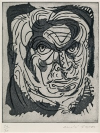 le misanthrope (self portrait) by andré masson