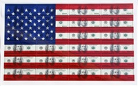 $100 u.s. flag by steven gagnon